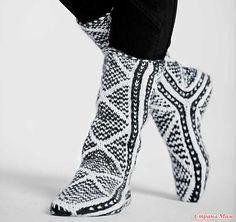 "Просто "" Черно - белые "" носки!"