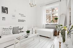 Total white mini apartment