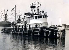 Early Tug Boats | Above: The US Army tug ST-850 is shown at Inchon, Korea in the early ...