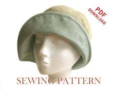 SEWING PATTERN Eleanor 1920s Twenties Cloche von ElsewhenMillinery
