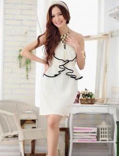 plus size dress white