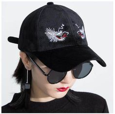 Dragon embroidered baseball cap for women UV protection hat