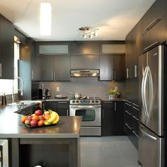 Modern Home Decor Kitchen Kitchen Room Design, Best Kitchen Designs, Kitchen Sets, Modern Kitchen Design, Kitchen Layout, Home Decor Kitchen, Interior Design Kitchen, Big Kitchen, Beautiful Kitchens
