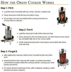 How To: Use An Orion Cooker