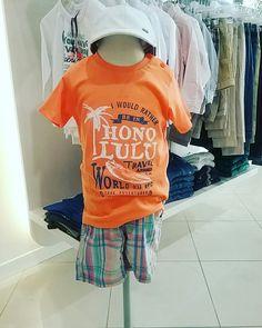 T-shirt e bermuda babyface taglie disponibili da 6 mesi a 4 anni.