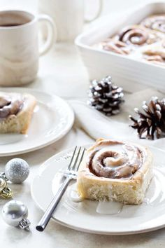 Overnight Chai Spice Sweet Rolls are the perfect breakfast for Christmas morning. Make them the night before and let them rise while you're opening gifts. Sponsored by Fleischmann's Yeast.