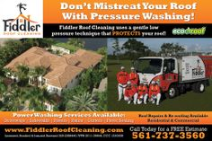 Donu0027t Mistreat Your Roof With Pressure Washing! Fiddler Roof Cleaning Uses  A Gentle