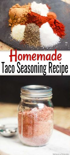 This delicious Homemade Taco Seasoning recipe is so easy to make. You will save a ton of money by making this. Learn how to make homemade taco seasoning. Try making your own homemade taco seasoning today! Easy Taco Seasoning Recipe, Low Carb Taco Seasoning, Chicken Taco Seasoning, Seasoning Mixes, Homemade Spice Blends, Homemade Spices, Homemade Seasonings, Spice Mixes, Fodmap