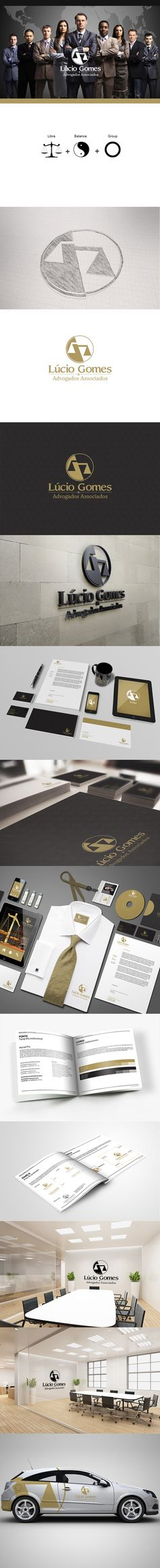 Lúcio Gomes Advogados e Associados by William Villas Boas, via Behance