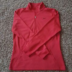 20% off! Nike Pullover Red Nike pullover jacket! In excellent condition!  I have a sale going in preparation for Valentine's Day! 20% off any items with red, pink, or purple in them! Just ask me, and I will lower the price for you! Nike Jackets & Coats
