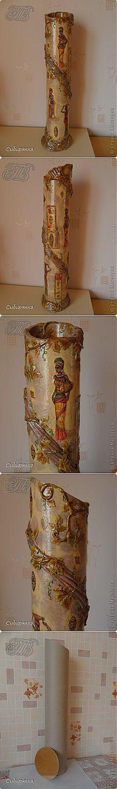 (+1) - МК. Напольная ваза своими руками. Автор Сибирянка | СДЕЛАЙ САМ!