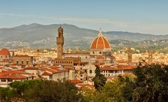 Florence in Italy. View of the basilica duomo.