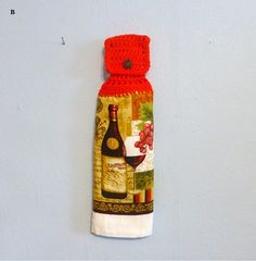 Hanging Kitchen Towel Wine and Grapes