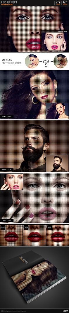 Led Effect Photoshop Action #photoeffect Download: http://graphicriver.net/item/led-effect-action/11509876?ref=ksioks