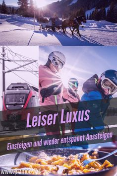 Reisen mit der Bahn - Entspannt, stressfrei und umweltfreundlich in den Skiurlaub