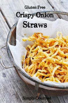 Crispy Onion Straws #gluten free | Simply Gourmet