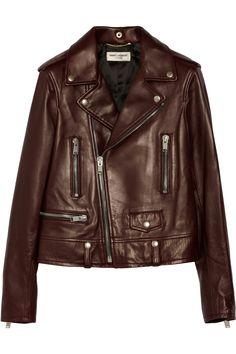 Saint Laurent Leather biker jacket NET-A-PORTER.COM