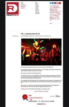 2014: FM - Looking Good At 30 - Deep Red Magazine