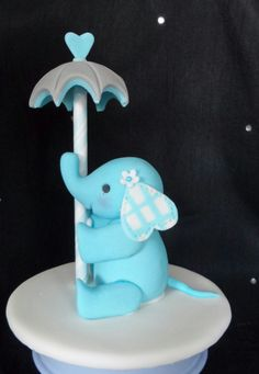 Little Elephant cake topper hand crafted in sugar paste