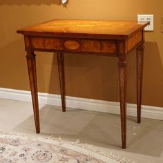 High end unique occasional side Table Mahogany and Burl with inlay Small Tables, Entryway Tables, Unique, Furniture, Home Decor, Small End Tables, Decoration Home, Room Decor, Home Furnishings