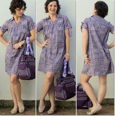 blog vitrine @ugust@ LOOKS | por leila diniz: vestido longo hering estampado + vestido médio hering listrado + mensagem de DEUS: vida em plenitude!