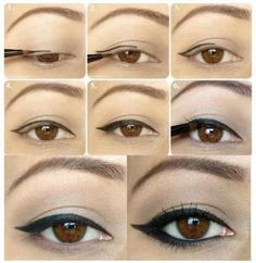 How to apply eyeliner steps