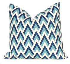 Decorative Throw Pillow Covers Navy and Aqua by FestiveHomeDecor, $38.00