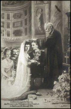 Kaiser Wilhelm's son, Prince Eitel Friedrich of Prussia with his bride.