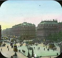 The Exposition Universelle of 1900 was a world's fair held in Paris, France, from 15 April to 12 November to celebrate the achievement. Paris 1900, Old Paris, Vintage Paris, Paris France, Color Photography, Vintage Photography, Subtractive Color, Voyage Europe, World's Fair