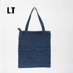 Women Denim Tote Bag Casual Blue Fabric Plain Jean Top Handle Front Pocket Shopping Book Teacher Nurse Organizer Shoulder Bag