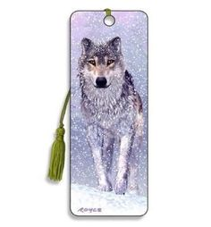Artgame - Snow Wolf - 3D Bookmark