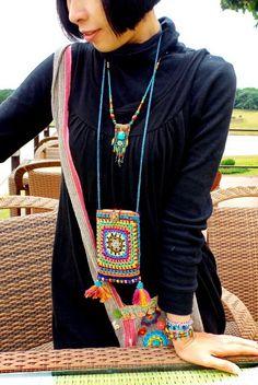 Crochet Case, Free Crochet Bag, Crochet Phone Cases, Knit Crochet, Crochet Jewelry Patterns, Crochet Edging Patterns, Crochet Handbags, Crochet Purses, Textiles