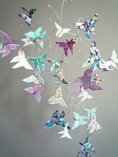 modern origami hanging mobile - Google Search