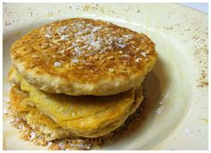 Coconut Pancakes for One | Hummusapien