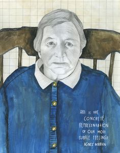 Happy Birthday, Agnes Martin: The Iconic Painter on Art, Solitude, and the Secret of Happiness   Brain Pickings