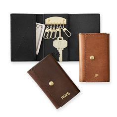 Leather Trifold Key