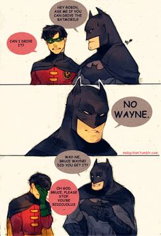 ...Batman wouldn't make a joke though...