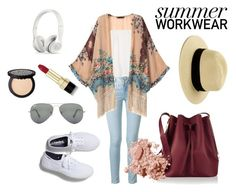 Summer Workwear by beazouza on Polyvore featuring polyvore fashion style Topshop Retrò Frame Keds Sophie Hulme Ray-Ban Bobbi Brown Cosmetics Dolce&Gabbana clothing