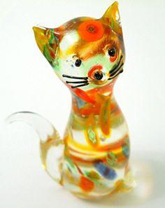 New Glass Cat Figurine Colorful Streaks Black Eyes Nose W... https://www.amazon.com/dp/B0197F4EU0/ref=cm_sw_r_pi_dp_x_qP7Cyb8BHV7EX