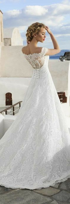 Feather Bodice  Gloria Gown Nicolette Wedding Mermaid Wedding Dress Lace Open Back Flowing Skirt White Beautiful Gorgeous Wedding Dress Gown White Full Flowing Skirt Lace Quarter Sleeves White Fitted Fit And Flare  Sweetheart Neckline Ballgown Ball #bride #bridal #Formalwear #Formal #Train #laceweddingdresses