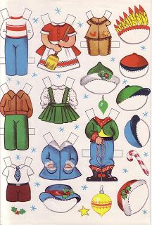 Paper Dolls: Manufactures of Toys Santa Claus