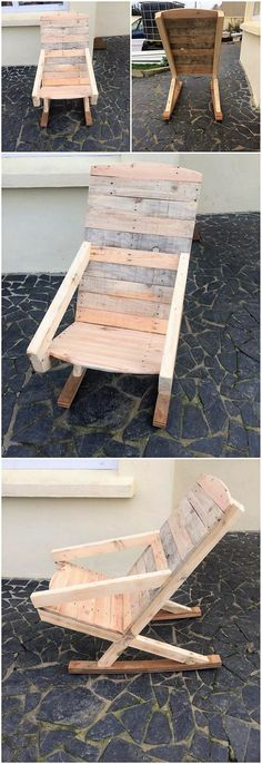 Wood pallets have always remained one of the favorite choices in the locations of the gardens. In this wood pallet idea as well, you will be catching the impressive use of the rocking chair design that has given the whole designing concept with the attractive features.