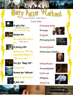 Harry Potter Workout for movies 3-8!