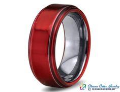 Red Tungsten Ring
