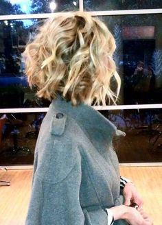 Short Blonde Curly Bob Hairstyle for 2015