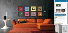 composição de quadros com paspatur colorido