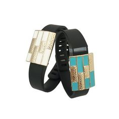 Charms to Accessorize the Fitbit Flex, Garmin Vivosmart, Xiaomi Mi, Jawbone Up, Garmin Vivofit, Vivosmart HR, Fitbit Charge or Charge HR - The SUMMER Charm in Gold White and Blue to Dress Up Your Favorite Fitness Tracker - Bundle Pack by Funktional Wearables - 2 of $24.00