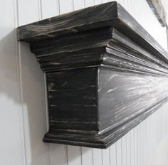 Large Distressed Shabby Wall Shelf Distressed by AnjowgaWoodworks Shabby Chic Mantle, Rustic Mantel, Floating Mantel, Floating Wall Shelves, Custom Woodworking, Woodworking Projects Plans, Fireplace Beam, Fireplace Remodel, Fireplaces