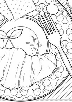 """Apple Pie coloring page """"Easy as pie Who says this"""