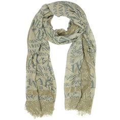 Armani Jeans Signature Viscose and Wool Men's Scarf ($115) ❤ liked on Polyvore featuring mens, men's accessories and men's scarves